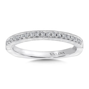 14K White Gold 0.13ct Diamond Wedding Band