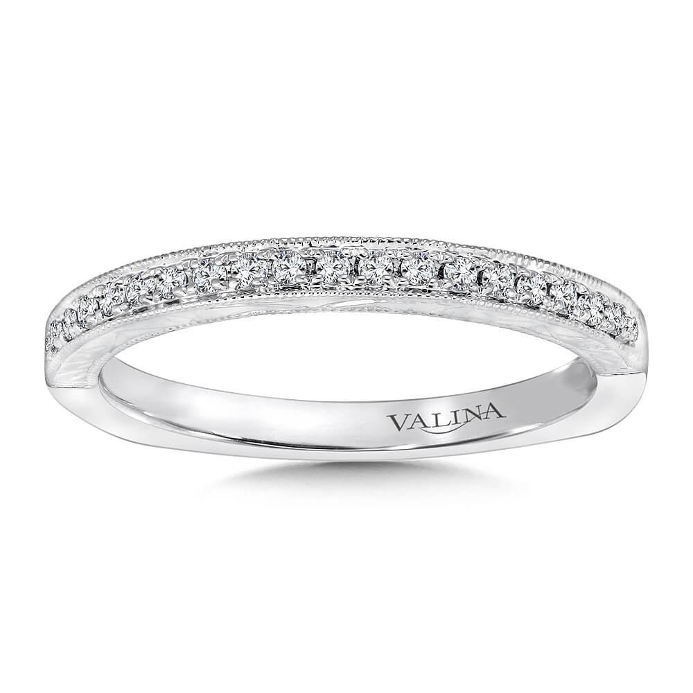 14K White Gold 0.13ct Diamond Wedding Band