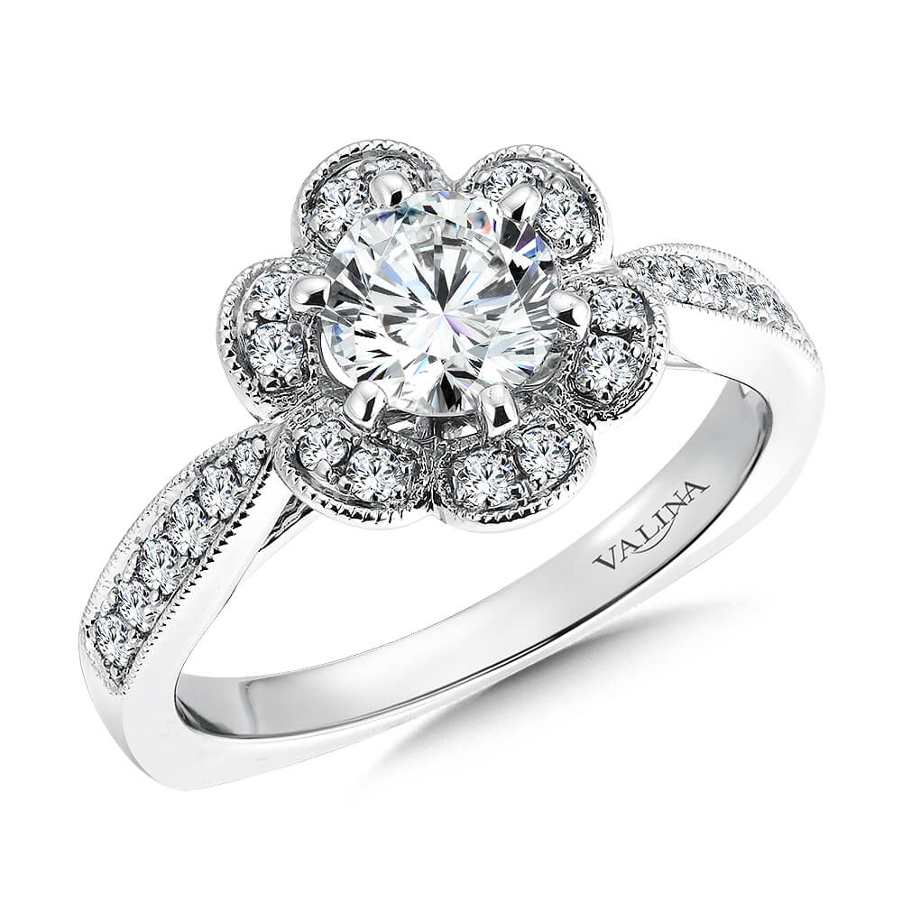 14k White Gold 0 37ct Diamond Engagement Ring More Than Just Rings