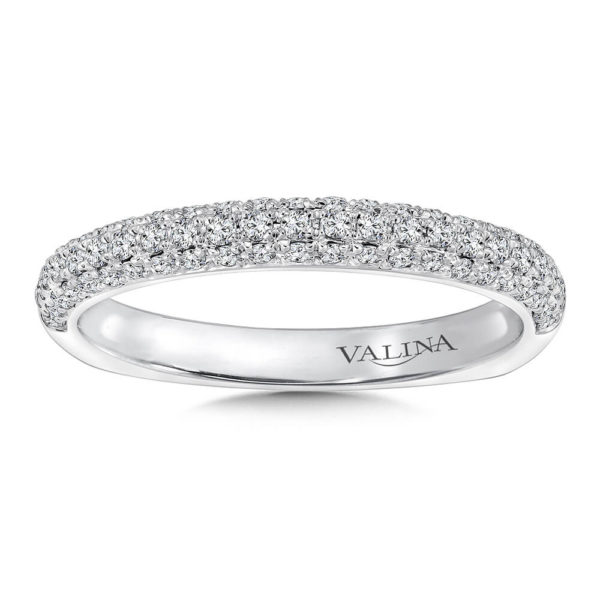 14K White Gold 0.37ct Diamond Wedding Band