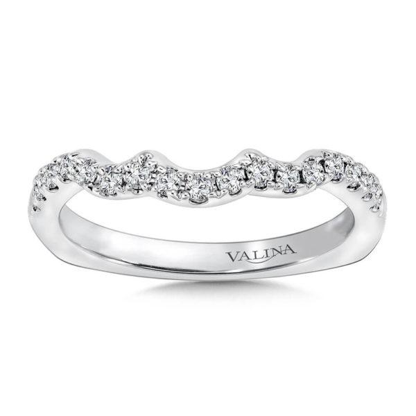 14K White Gold 0.23ct Diamond Wedding Band