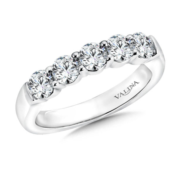 14K White Gold 0.96ct Diamond Wedding Band