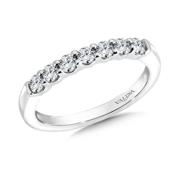 14K White Gold 0.43ct Diamond Wedding Band