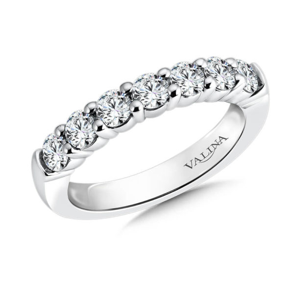 14K White Gold 1.01ct Diamond Wedding Band