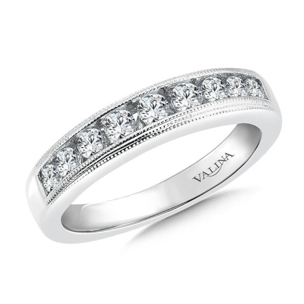 14K White Gold 0.49ct Diamond Wedding Band