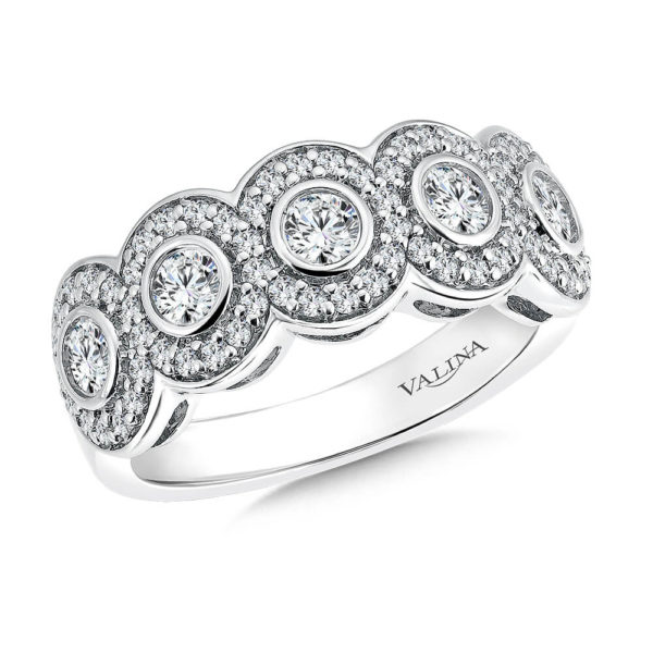 14K White Gold 1.04ct Diamond Wedding Band