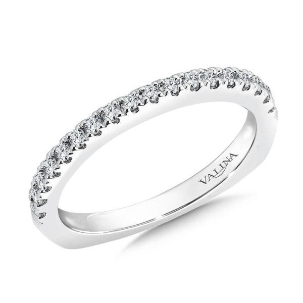 14K White Gold 0.27ct Diamond Wedding Band