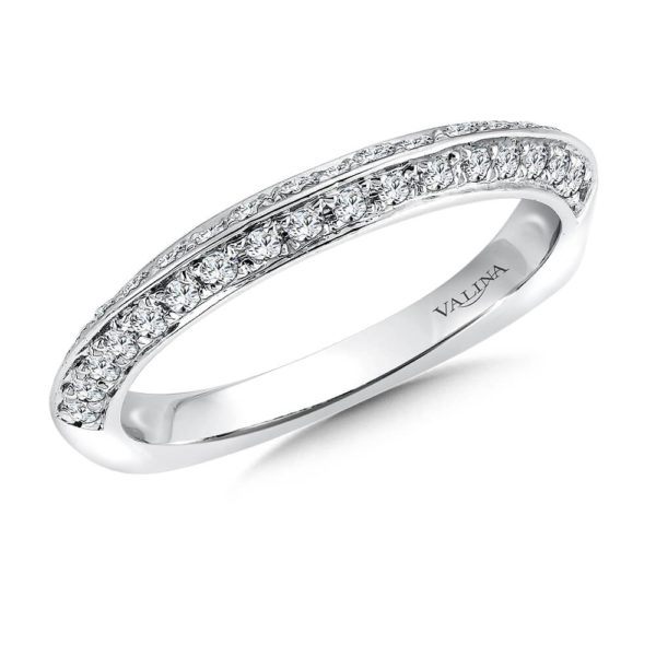 14K White Gold 0.38ct Diamond Wedding Band