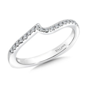 14K White Gold 0.16ct Diamond Wedding Band