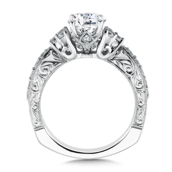 14K White Gold 0.39ct Diamond Engagement Ring 1.00ct center