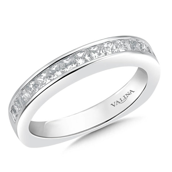 14K White Gold 0.68ct Diamond Wedding Band