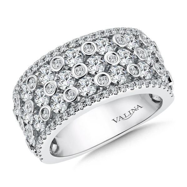 14K White Gold 2.33ct Diamond Wedding Band - Anniversary Band