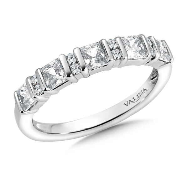 14K White Gold .95ct Diamond Wedding Band - Anniversary Band
