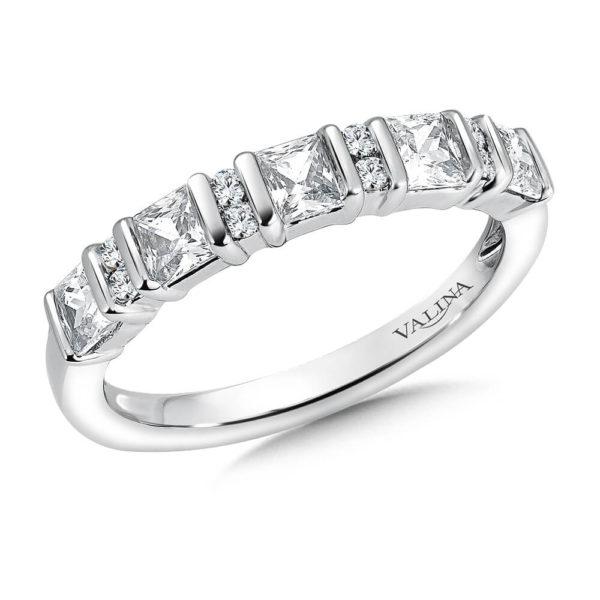 14K White Gold .95ct Diamond Wedding Band - Anniversary Band