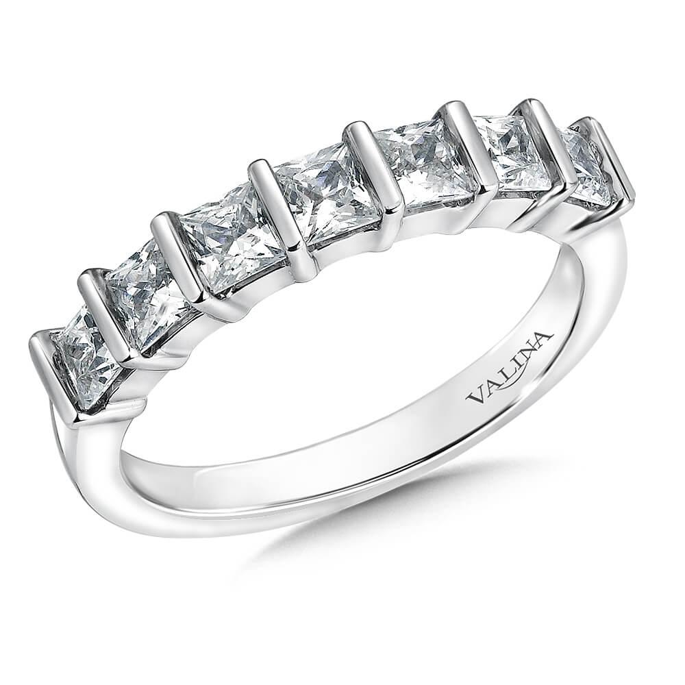 14K White Gold 1.05ct Diamond Wedding Band - Anniversary Band