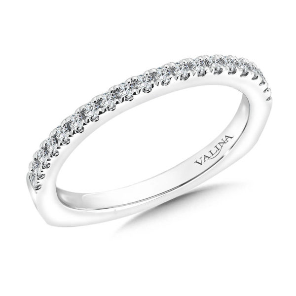 14K White Gold 0.22ct Diamond Wedding Band