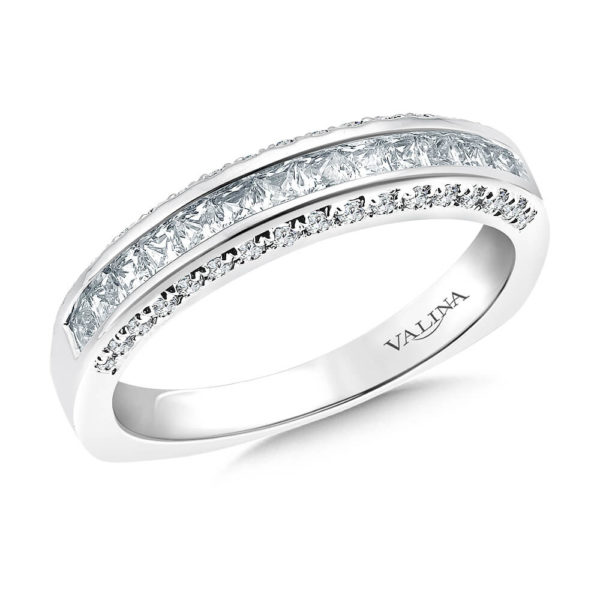 14K White Gold 0.71ct Diamond Wedding Band