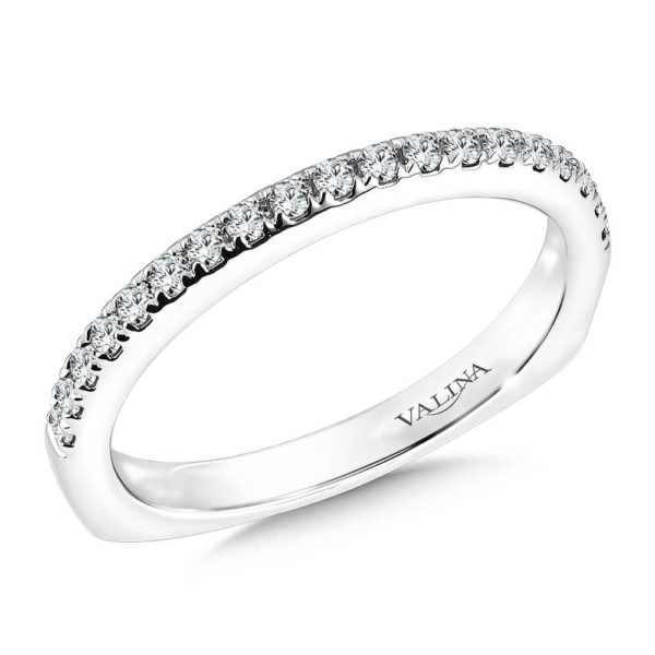 14K White Gold 0.20ct Diamond Wedding Band