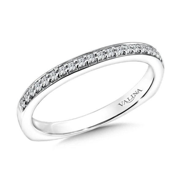 14K White Gold 0.21ct Diamond Wedding Band