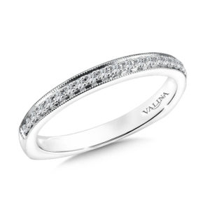 14K White Gold 0.14ct Diamond Wedding Band