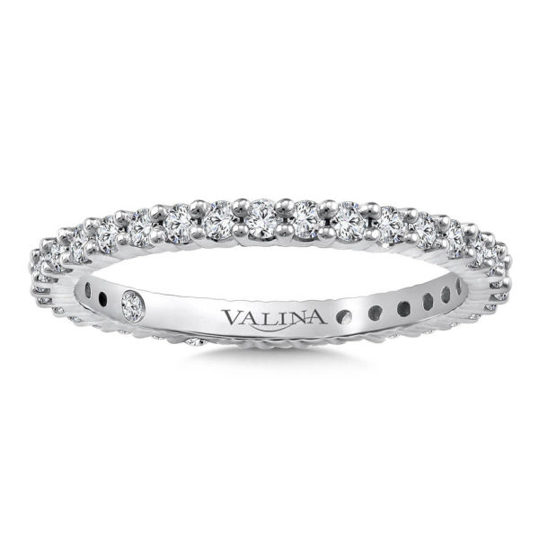 14K White Gold 0.56ct Diamond Wedding Band - Eternity Band