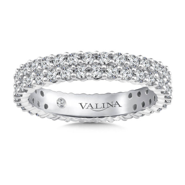 14K White Gold 1.24ct Diamond Wedding Band - Eternity Band