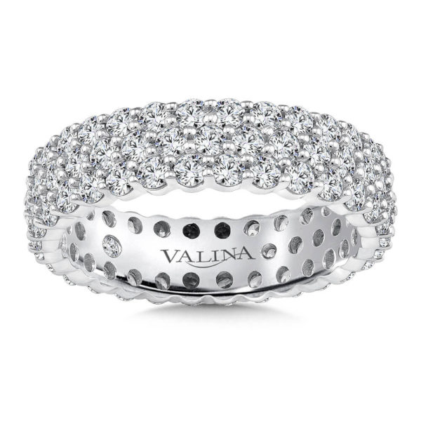 14K White Gold 2.34ct Diamond Wedding Band - Eternity Band