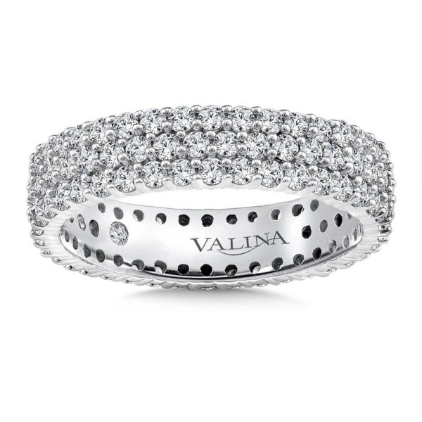 14K White Gold 1.58ct Diamond Wedding Band