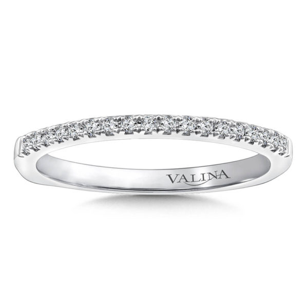 14K White Gold 0.135ct Diamond Wedding Band