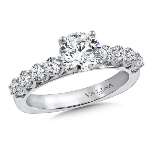 14K White Gold 0.63ct Diamond Engagement Ring