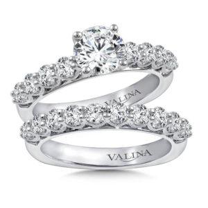 14K White Gold 1.39ct Diamond Bridal Set