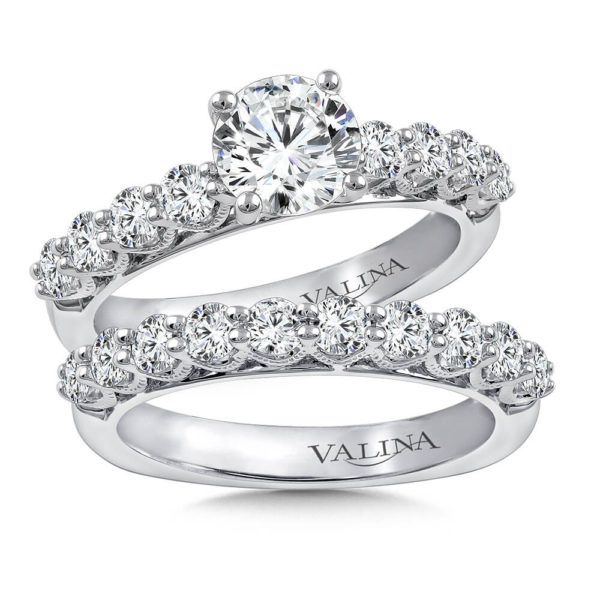 14K White Gold 1.39ct Diamond Bridal Set