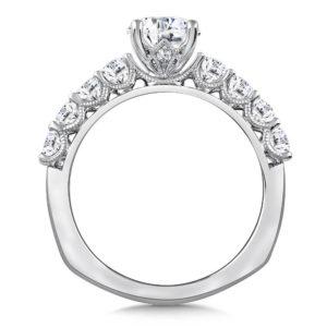 14K White Gold 0.63ct Diamond Engagement Ring