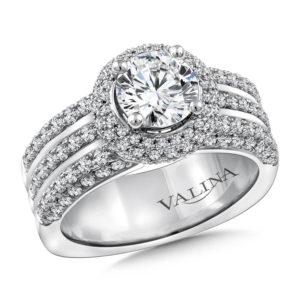 14K White Gold 1.08ct Diamond Engagement Ring