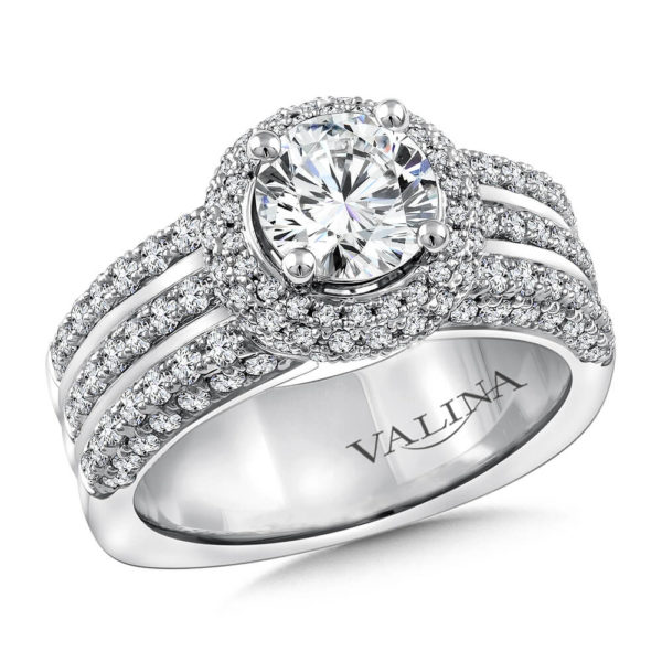 14K White Gold 1.08ct Diamond Engagement Ring