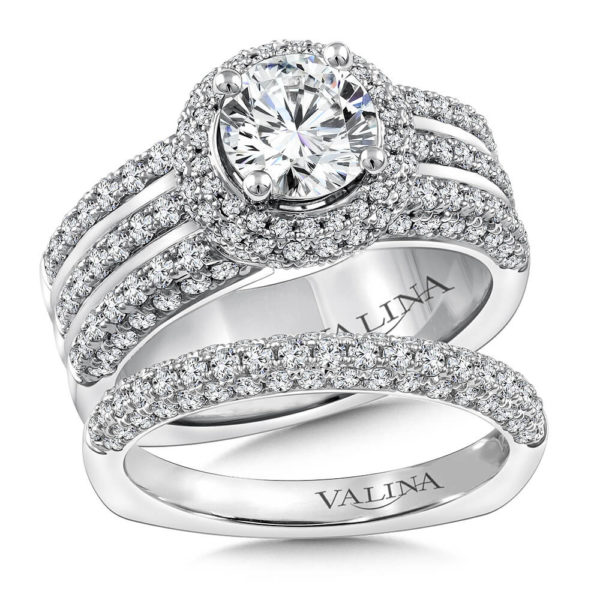 14K White Gold 1.60ct Diamond Bridal Set