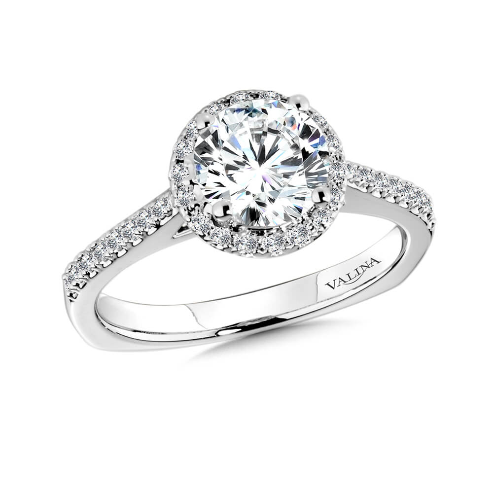 14K White Gold 0.21ct Diamond Engagement Ring