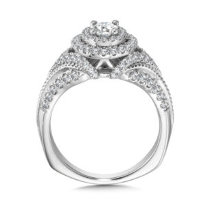 14K White Gold 0.68ct Diamond Engagement Ring