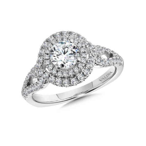 14K White Gold 0.56ct Diamond Engagement Ring