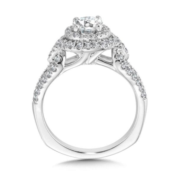14K White Gold 0.56ct Diamond Engagement Ring