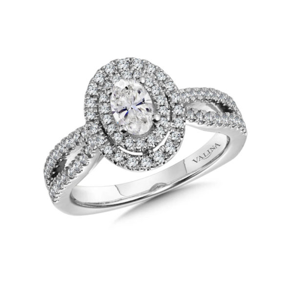 14K White Gold 0.218ct Diamond Engagement Ring