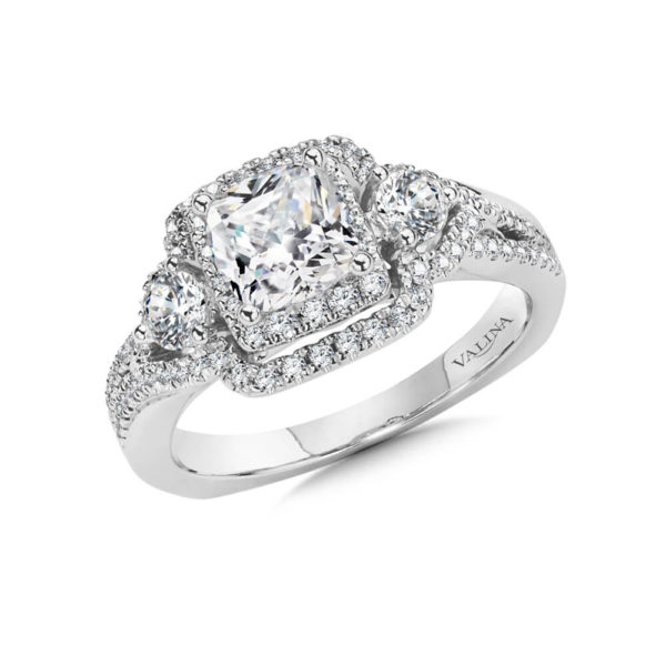 14K White Gold 0.71ct Diamond Engagement Ring