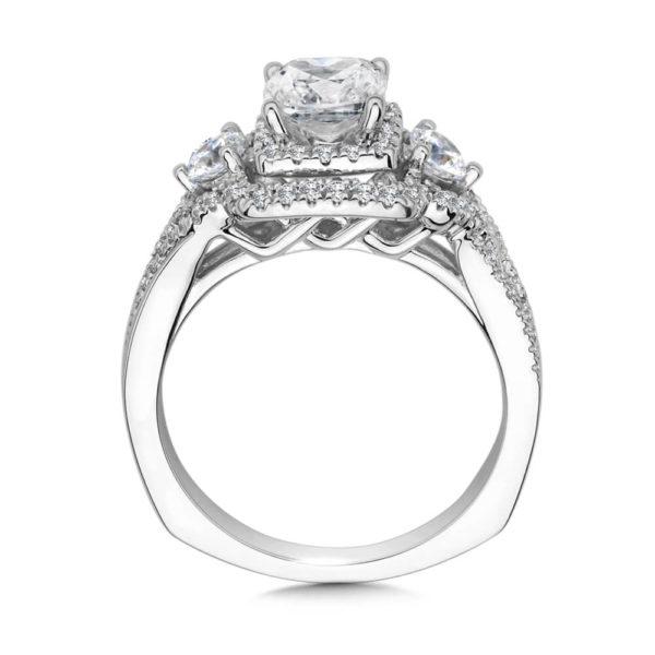 14K White Gold 0.71ct Diamond Engagement Ring