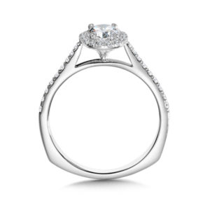 14K White Gold 0.23ct Diamond Engagement Ring