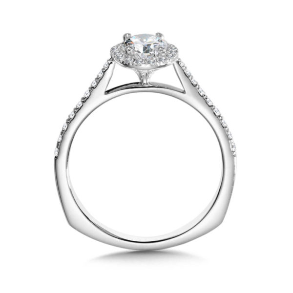 14K White Gold 0.23ct Diamond Engagement Ring