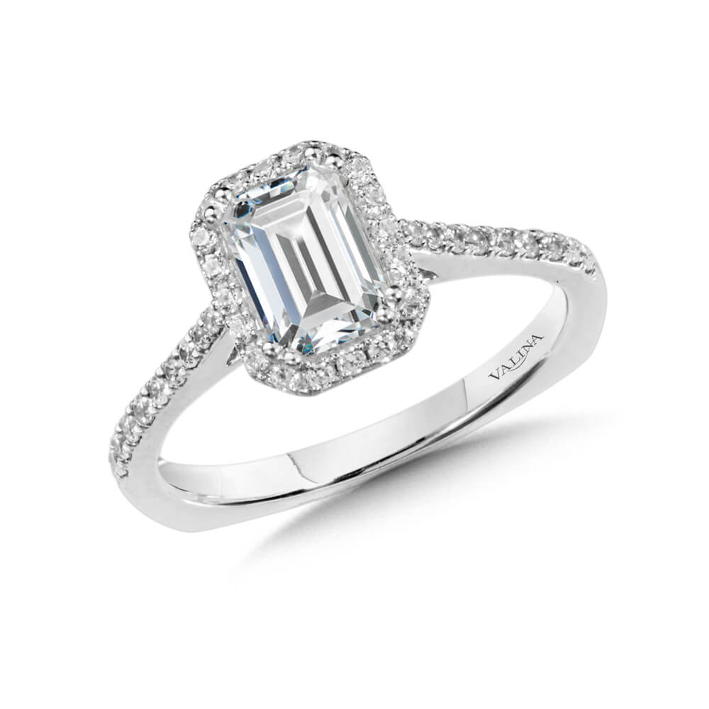 14K White Gold 0.24ct Diamond Engagement Ring