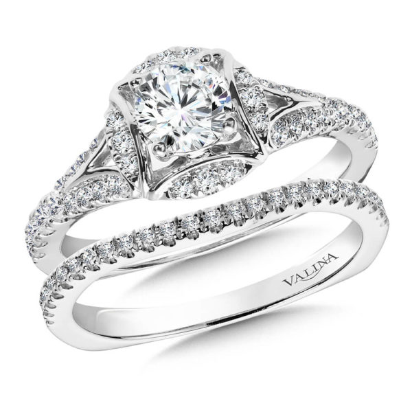 14K White Gold 0.41ct Diamond Bridal Set