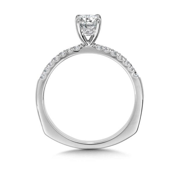 14K White Gold 0.13ct Diamond Engagement Ring