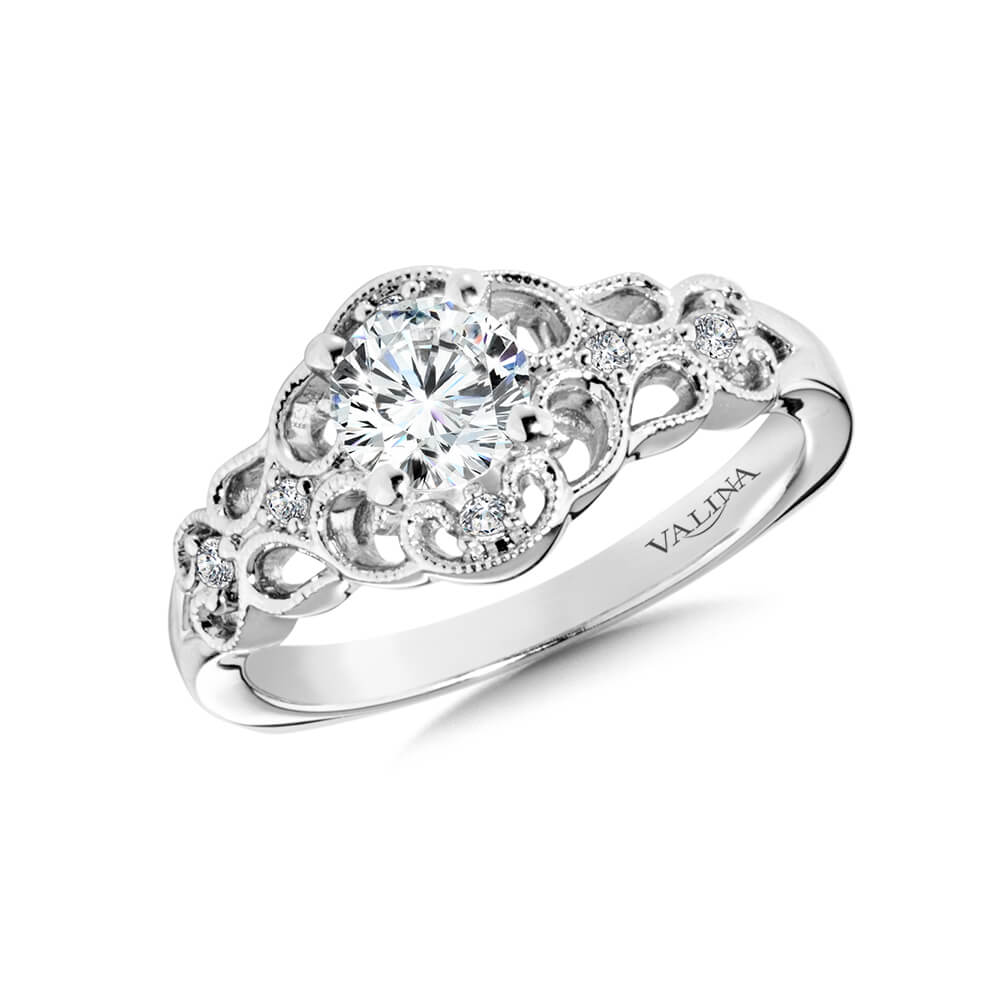 14K White Gold 0.07ct Diamond Engagement Ring