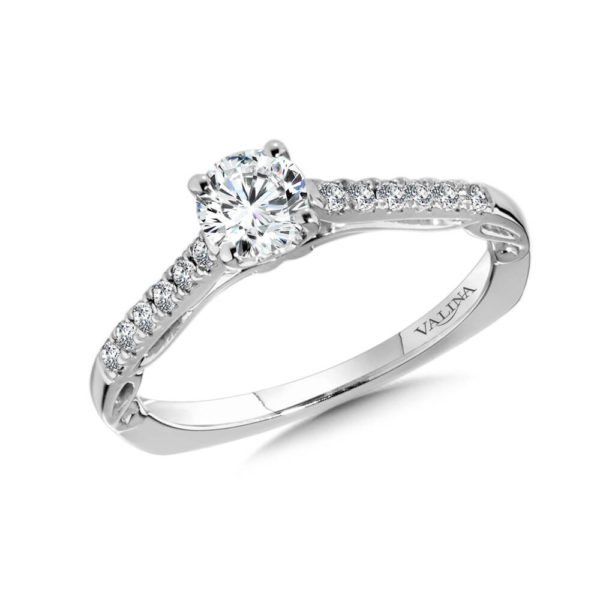 14K White Gold 0.15ct Diamond Engagement Ring
